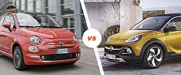 Opel Adam vs Fiat 500