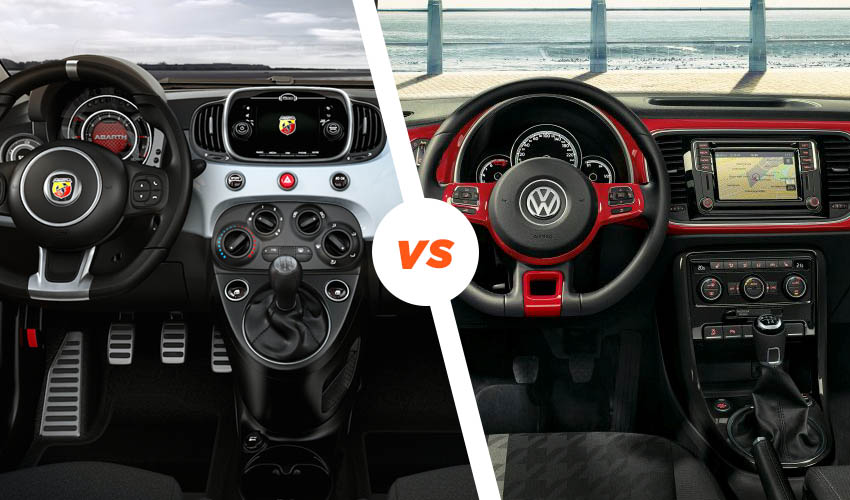 Interior Abarth 595 vs Beetle